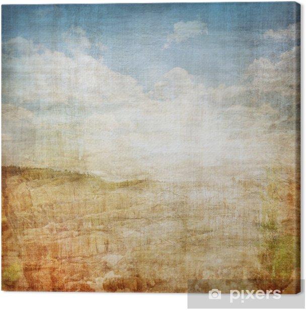 Vintage Landscape Fabric Background Canvas Print Pixers We Live To Change