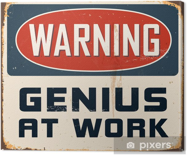 Vintage Metal Sign - Vector - Grunge effects can be removed Canvas Print -