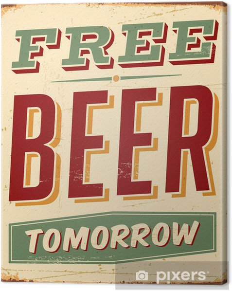 Vintage Metal Sign - Vector - Grunge effects can be removed Canvas Print - Sales