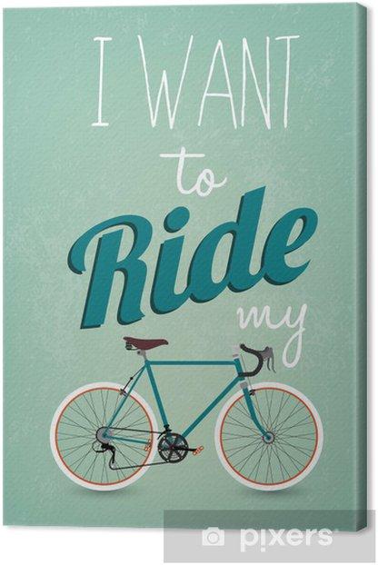 Vintage Retro Bicycle Background Canvas Print -