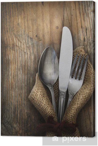 Vintage silverware Canvas Print - Themes