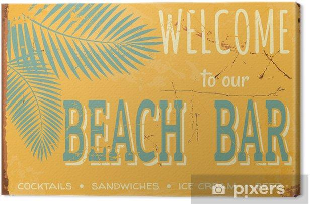 Vintage Tin Sign Canvas Print - Styles