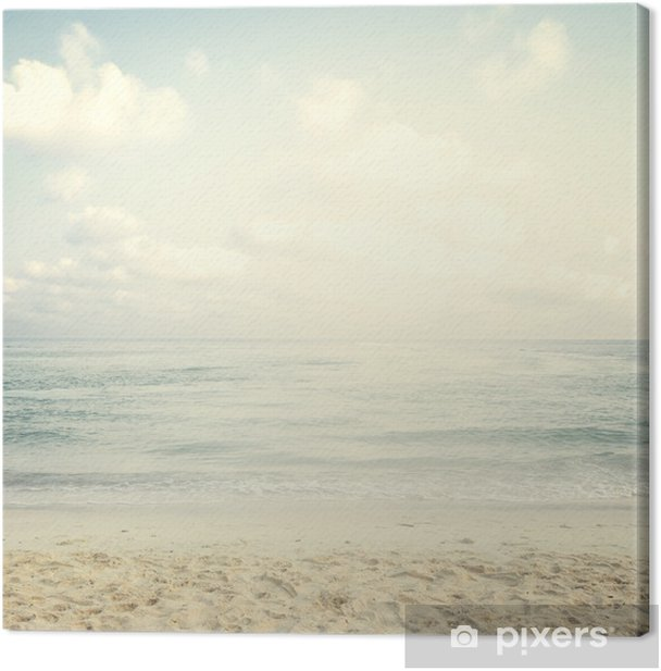 Vintage tropical beach in summer Canvas Print - Landscapes