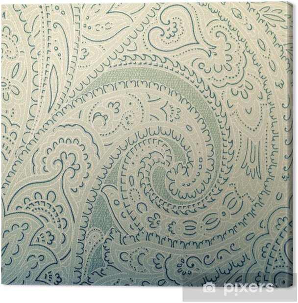 Vintage wallpaper background with vignette victorian pattern Canvas Print