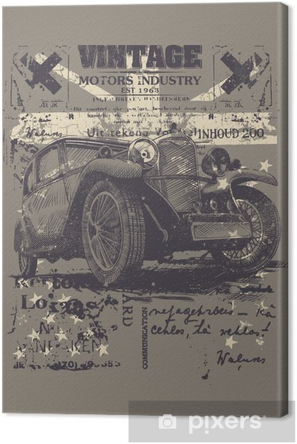 Vintage wheels Canvas Print -