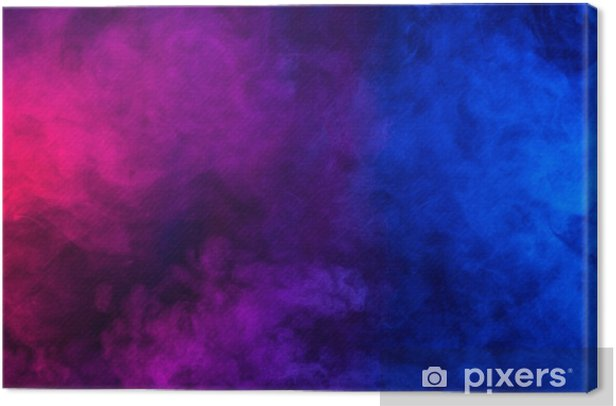 Violet And Blue Smoke Or Flame Texture On A Black Background Texture And Abstract Art Canvas Print