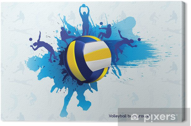 Volleyball abstract Canvas Print - Volleyball