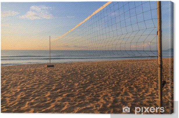 Volleyball net Canvas Print - Volleyball