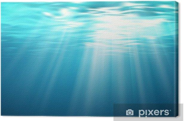 Vue sous-marine vectorielle 1 Canvas Print - Landscapes
