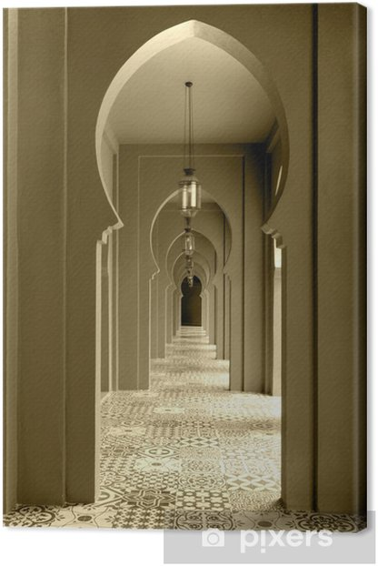 walkway moroccan style decor Canvas Print - Private Buildings