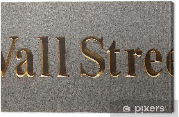 wall street plaque, manhattan, new york city Canvas Print - American Cities