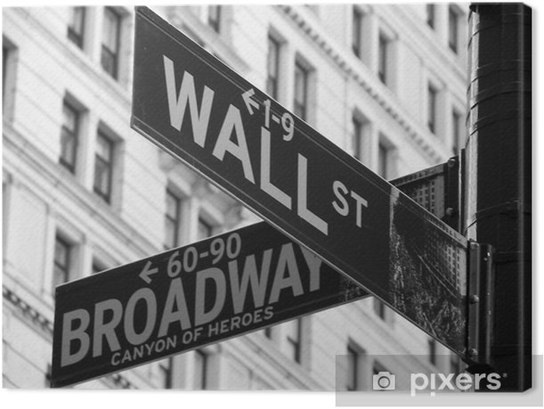 Wall Street Canvas Print - Other