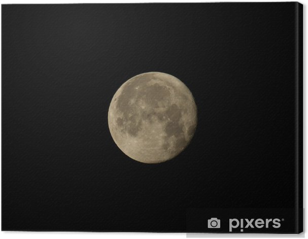 Waning Gibbous Moon Canvas Print Pixers We Live To Change
