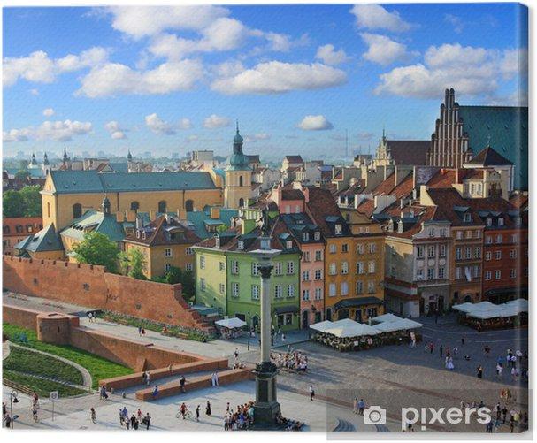 Warsaw castle square Canvas Print - Themes