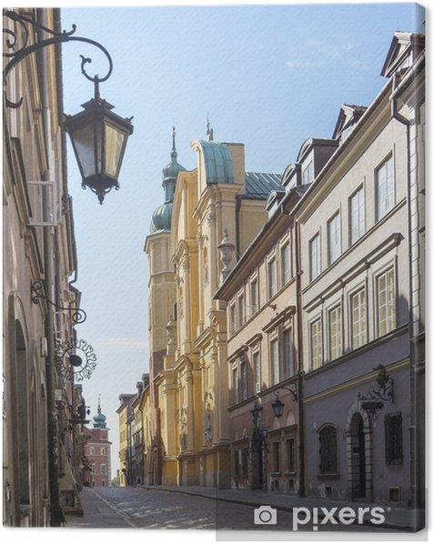 Warsaw, Old Town, Piwna street, St. Marcin church Canvas Print - Themes