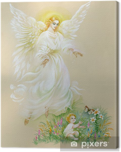 "Watercolor ""Angel"" Canvas Print - Themes"