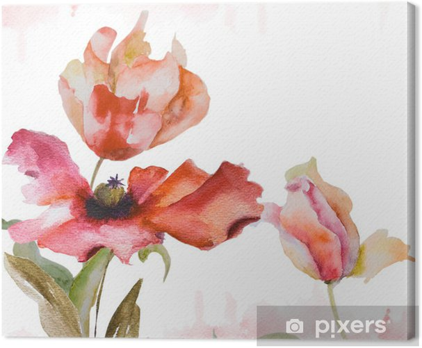 Watercolor background Canvas Print - Themes