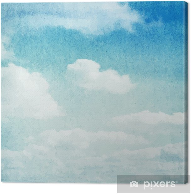 Watercolor clouds and sky background Canvas Print - Themes