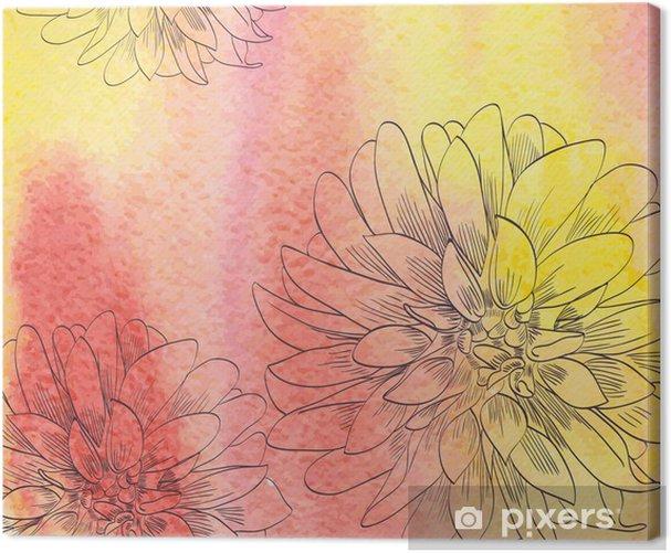 watercolor Canvas Print - Backgrounds