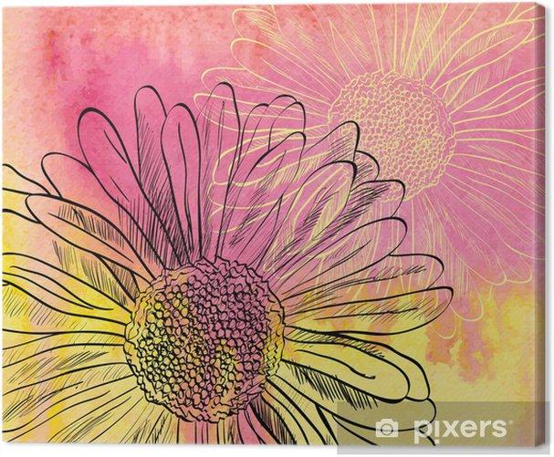 watercolor Canvas Print - Themes