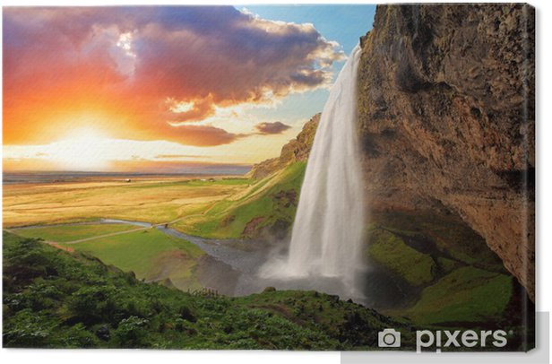 Waterfall, Iceland - Seljalandsfoss Canvas Print - Themes