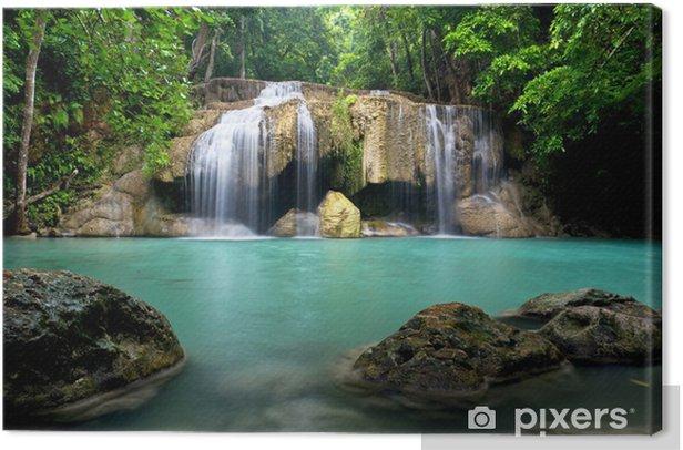 Waterfall in Kanchanaburi Province,Thailand Canvas Print - Themes