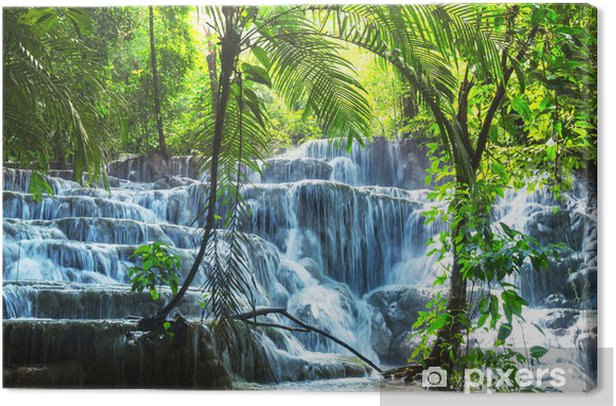 Waterfall in Mexico Canvas Print - Themes