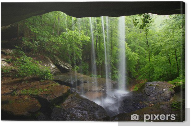 Waterfall in northern Alabama Canvas Print - Themes