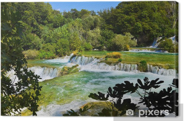 Waterfall KRKA in Croatia Canvas Print - Themes