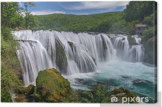 Waterfall Strbacki Buk on Una river in Bosnia Canvas Print - Themes