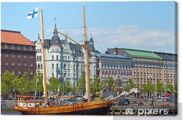 Waterfront Helsinki. Canvas Print - Urban