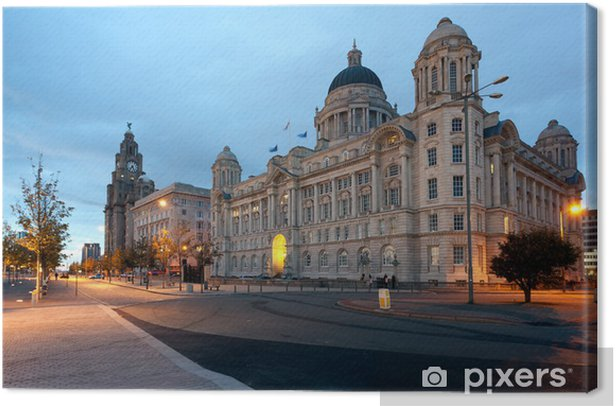 Waterfront in Liverpool Canvas Print - Europe