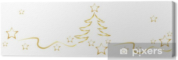 Weihnachten Sterne Bannergrafik Canvas Print