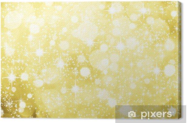 weihnachtlicher Hintergrund Gold Glitzer Sterne Schnee Canvas Print - International Celebrations