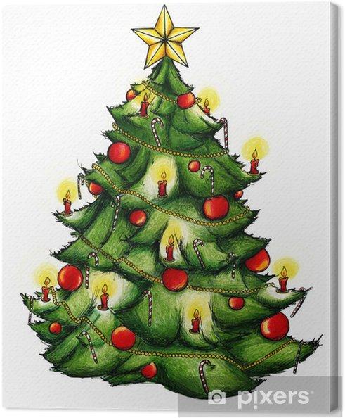 Foto Weihnachtsbaum.Weihnachtsbaum Christbaum Weihnachten Heiligabend Canvas Print
