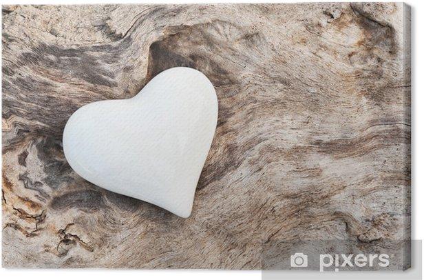 Weißes Herz Canvas Print - Styles