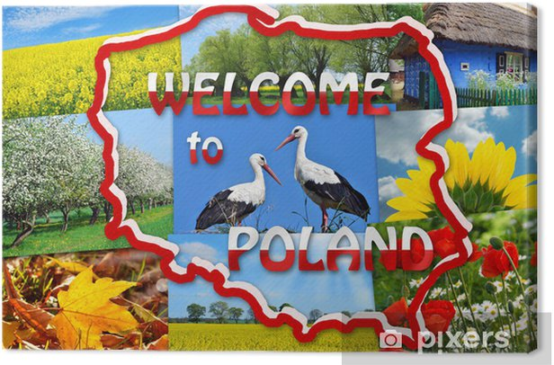 welcome to Poland Canvas Print - Europe