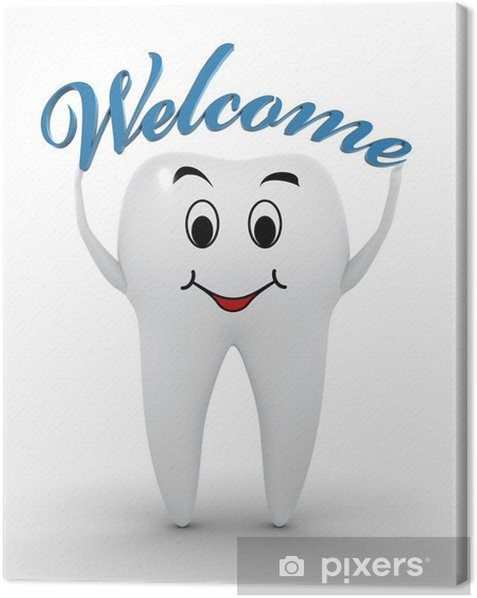 Welcome to the dentist Canvas Print - Signs and Symbols