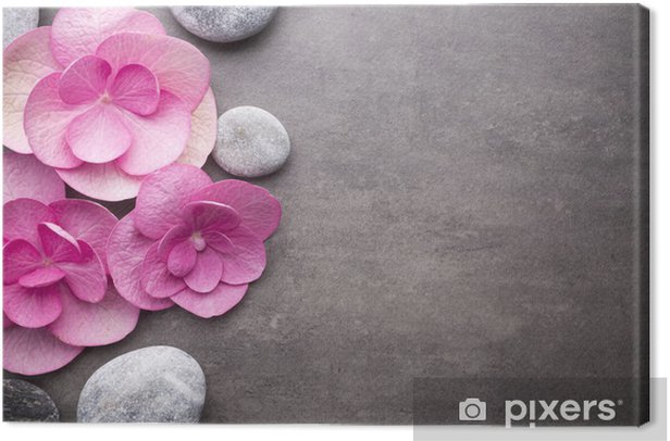 Wellness background. Canvas Print - Backgrounds