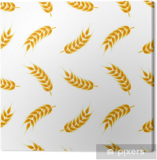 Wheat ears pattern Canvas Print - Grains and Cereals
