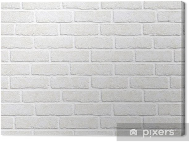 white brick wall background Canvas Print - Themes