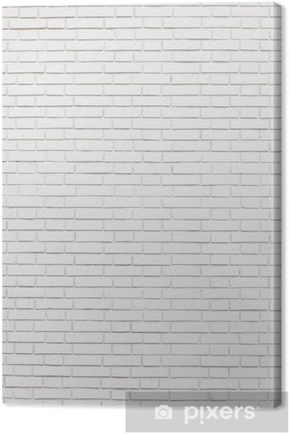 white brick wall Canvas Print -