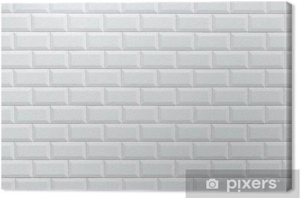 White Ceramic Brick Tile Wall Canvas Print