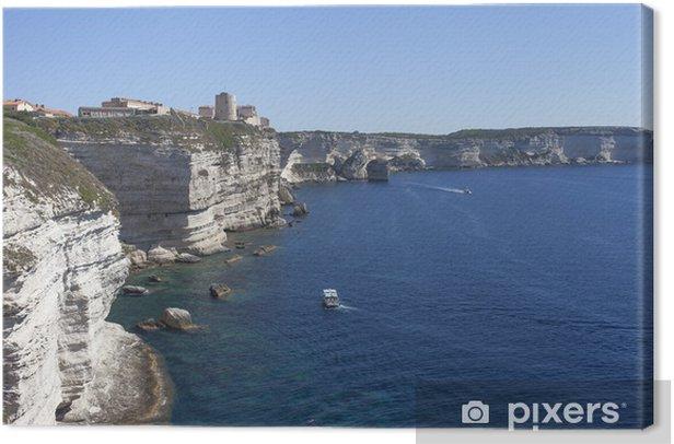 White cliffs , Corsica, France. Canvas Print - Themes