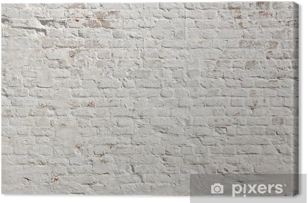 White grunge brick wall background Canvas Print - Styles