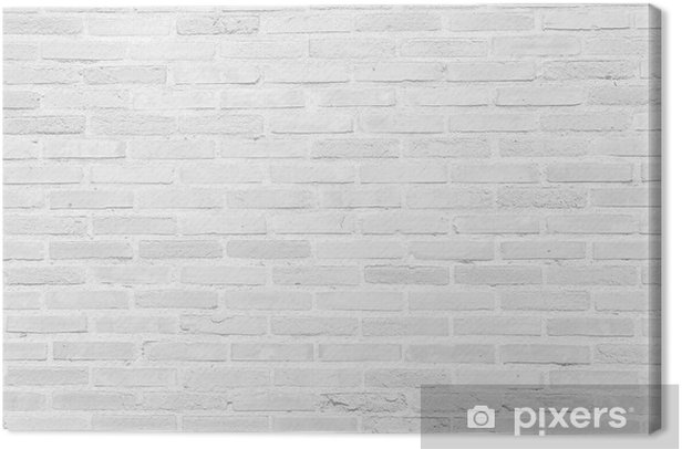 White grunge brick wall texture background Canvas Print - Themes