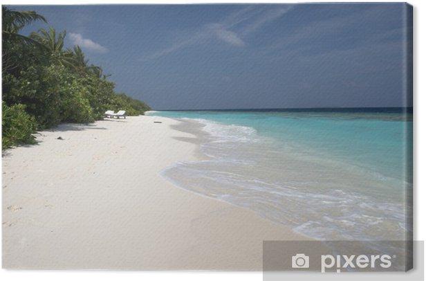 White maldivian beach Canvas Print - Holidays