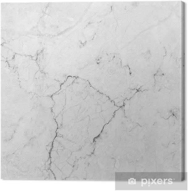 White marble with natural pattern. Canvas Print - Styles