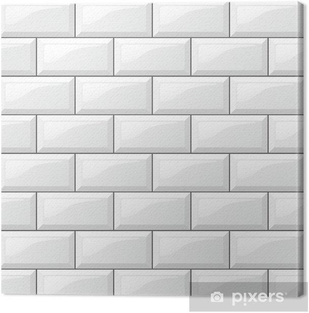 White Tiles Background Canvas Print