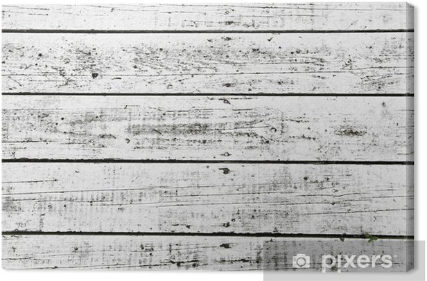 White washed planks Canvas Print - Textures